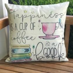 Cushion. Happiness coffee