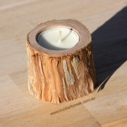 Candle holder made of paperbark tree, set of 3