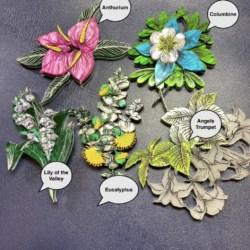 Columbine Flower Brooch