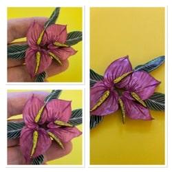 The Scarlet Anthurium brooch