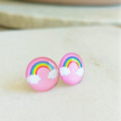 Pink Rainbow Children's Stud Earrings
