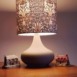 Hand crafted lampshade with base – William Morris design