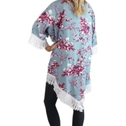 Ruby Lace Kimono – Slate