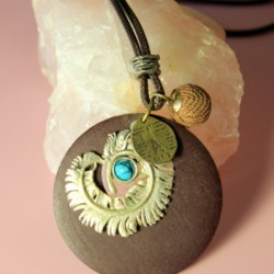Rope Necklace Womens Jewellery Silver Tribal Leaf Eiffel Tower Turquoise Pendant New Boho