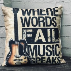 Cushion. Where words fail music speaks