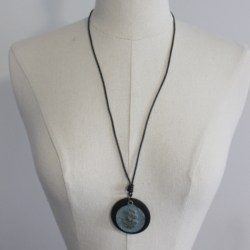 Vintage Style Long Necklace Womens Jewellery Lady Head Cameo Pendant New