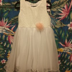 Pretty cotton and tulle dress size 6