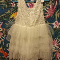 White lace and tulle dress sizes 3 and 4