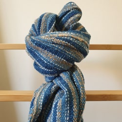 Handwoven Natural Dyed Indigo Cotton Scarf