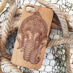 Ganesh wooden phone case
