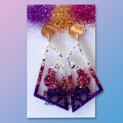 Eve Statement Dangle Earrings – Glitter Art