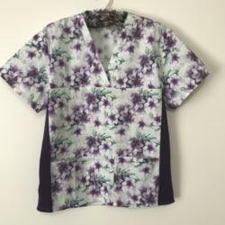 Floral Scrub | Nurse Scrub top | Unisex Scrubs | Doctors | Healthcare worker