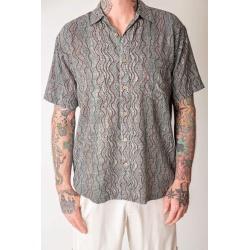 Aboriginal Art Australian designed Bamboo shirt for men. Seed Dreaming
