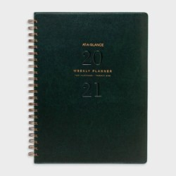 At A Glance A4 Week To Open 2021 Signature Diary Planner – Green