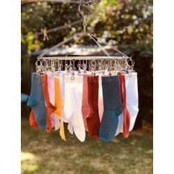 Stainless Steel Sock Hanger 30 Pegs