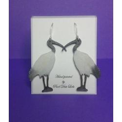 Hand Painted Earrings (Ibis)