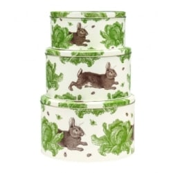 Rabbit & Cabbage – Set of 3 Round Cake Tins
