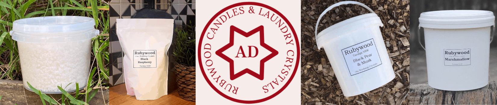 Rubywood Candles & Laundry Crystals