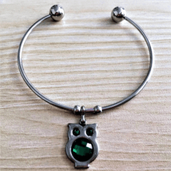 Pretty Owl Adjustable Bangle – Stainless Steel