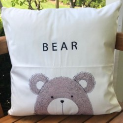 Cushion. Nordic print bear