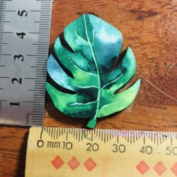 Monstera Leaf Brooches / Pins / Embellishments