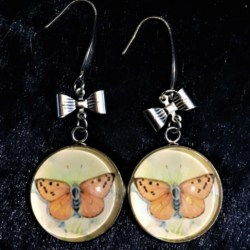 Cute Butterfly and Bow Dangle Earrings – Stainless Steel