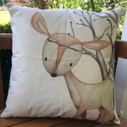 Cushion. Woodland deer