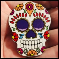 Sugar Skull – Day of the Dead Theme Brooches / Pins / Embellishments
