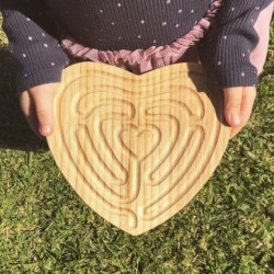 Mindfulness Tool for Children – Small Heart Shaped Finger Labyrinth