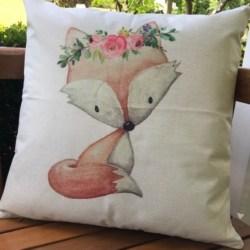 Cushion, Woodland fox pink