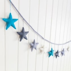 Felt Star Garland – Starry Night
