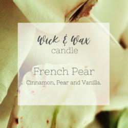 French Pear Original Candle | Cinnamon, Pear and Vanilla.