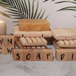 Wooden Soap dish, good for all natural soaps and fits all the soaps from Dawn View Olive Oil – price includes postage.
