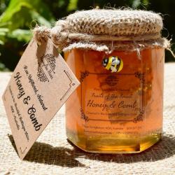 Artisan Honey + Honeycomb in Glass Jar