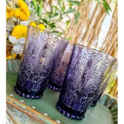 4pc BOHO JUICE GLASSES – LAVENDER