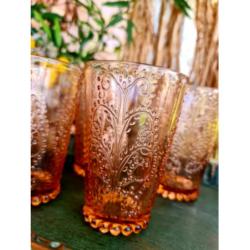 4pc BOHO JUICE GLASSES – WATERMELON