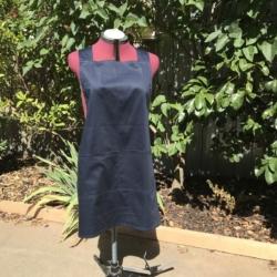 Cross Back Apron/Cotton Linen apron/Pullover Apron/Japanese style apron/cross fit apron/women's apron/work apron/pinafore apron/ Natural apron/baker apron