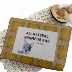 All Natural Shampoo Bar for Dogs with Jute Soap Saver Bag