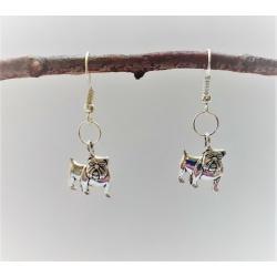 Bulldog Dangle Earrings