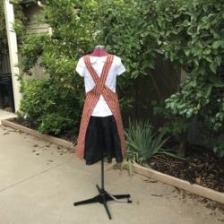 Reversible Apron/ Cross Back Apron/Pullover Apron/Japanese style/cross fit apron/women's apron/pinafore apron
