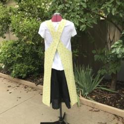 Reversible Apron/Cross Back Apron /Pullover Apron/Japanese style/cross fit apron/women's apron/pinafore apron