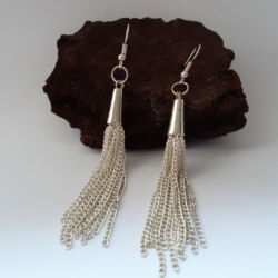 Sexy Chain Dangle Earrings – fine link chain
