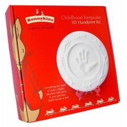 Bunnykins Baby Gift 3D Handprint Keepsake Set By Royal Doulton