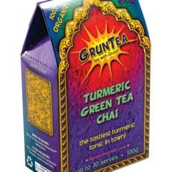 100% Organic GrunTea Turmeric Green Tea Chai – 100g Box