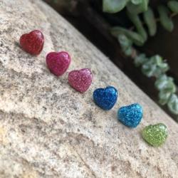 Love Heart Studs (Stainless Steel)