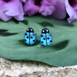 Ladybug Studs (Stainless Steel)