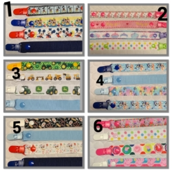 HANDMADE DUMMY CLIPS-PACIFIER CLIPS – SOOTHER CLIPS ( SET OF 4 )