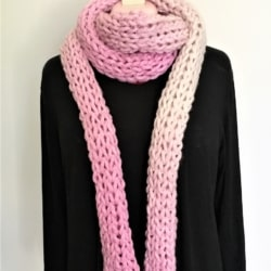 Pretty in Pink Finger Knit Scarf