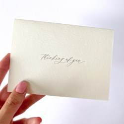 Thinking Of You | Letterpress Greeting Card
