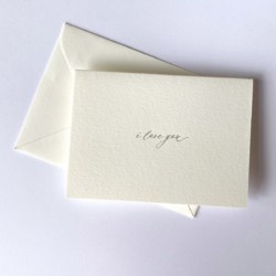 I Love You | Letterpress Greeting Card